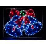 Световая фигура подвесная 230V 5м LED белый синий зеленый красный, 24 LED/1м, 9.6W, 20mA, IP 44, шнур 1,5м х1мм, LT016