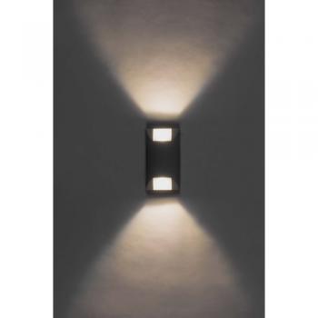 Накладной светодиодный уличный светильник ЛЮКС, 6W 6400K AC230V 90x57x166мм IP65,SP4120 , артикул 32055