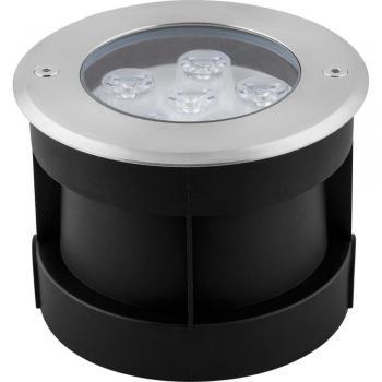 Светильник тротуарный, 6LED холодный белый, 6W, 120*H90mm, внутренний диаметр: 82mm, IP 67, SP4112, артикул 32016