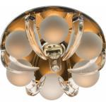 Светильник потолочный, JCD9 G9 c прозрачным и матовым стеклом, коричневый, с лампой, CD2530