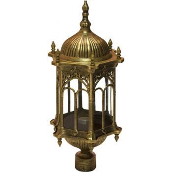 Светильник садово-парковый, 60W 230V E27 черное золото, PL114
