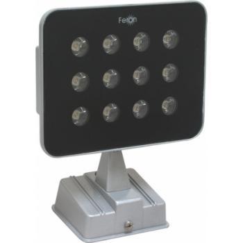 Прожектор квадратный, 12LED/3W-белый 230V серебрянный (IP54), LL-146