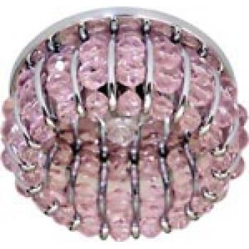 Светильник потолочный, JCD9 G9 с розовым стеклом, хром, с лампой, CD2119