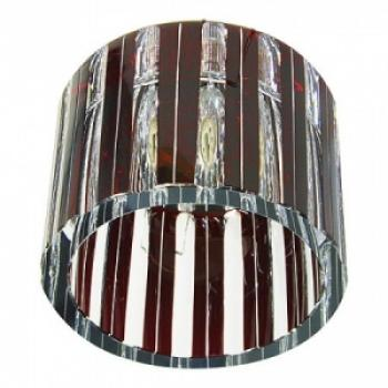 Светильник потолочный, JCD G9 с синим стеклом, хром, с лампой, CD84