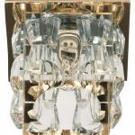 Светильник потолочный, JCD9 35W G9 прозрачный,золото, JD183