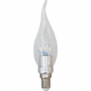 Лампа светодиодная, 6LED(3.5W) 230V E27 4000K хром, LB-71