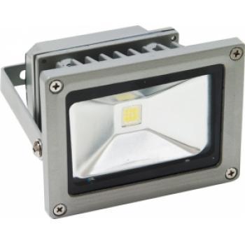 Прожектор квадратный, 1LED/10W-синий 230V серый (IP65) 114*133*88мм, LL-122