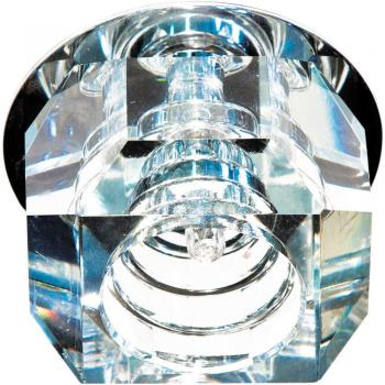 Светильник потолочный, JCD G9 с прозрачным стеклом, хром, с лампой, JD64-CL