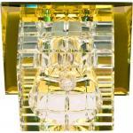 Светильник потолочный,JCD9 35W G9, прозрачный,желтый, с лампой, JD106