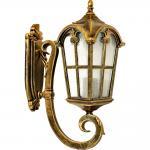Светильник садово-парковый, 60W 230V E27 черное золото, PL102