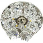 Светильник встраиваемый со светодиодной RGB подсветкой 2.5W JCD9 35 W 230V/50Hz G9, сиреневый, прозрачный, 1550