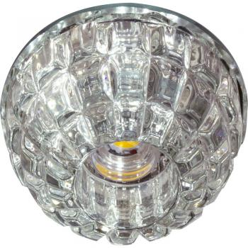 Светильник встраиваемый со светодиодной RGB подсветкой 2.5W JCD9 35 W 230V/50Hz G9, прозрачный, прозрачный, JD68