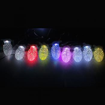 Гирлянда 220V 10 RGB LED, расстояние между LED: 32см, IP20, длина гирлянды: 4м, длина шнура: 2м, макс. Кол-во подключения: 5 гирлянд, CL56