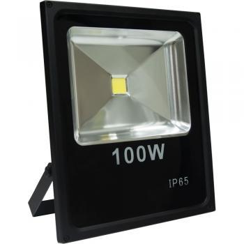 Прожектор светодиодный 1COB LED 100W 8000LM 6400K AC220V/50Hz, 335*290*70mm IP65, с кабелем длиной 30см, черный, LL-841