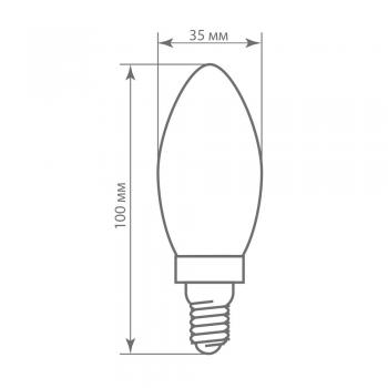 Лампа светодиодная диммируемая Feron LB-68 Свеча E14 5W 2700K