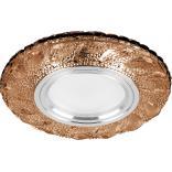 Светильник встраиваемый с белой LED подсветкой Feron CD907 потолочный MR16 G5.3 коричневый