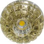 Светильник потолочный 10W 220V/50Hz 600Lm 3000K прозрачный, золото, JD87