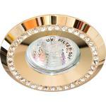 Светильник потолочный MR16 MAX50W 12V G5.3, прозрачный,золото,DL104-C
