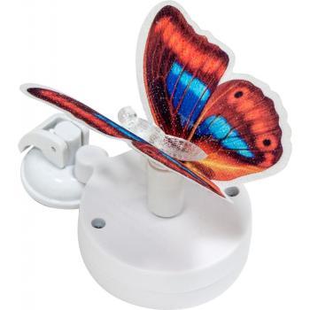 """Светильник садово-парковый на присоске на солнечной батарее """"Бабочка"""" красный, 1 RGB LED, 46*30*42мм, PL264"""