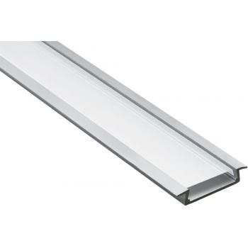 """Профиль алюминиевый """"встраиваемый"""" широкий , серебро, CAB252"""