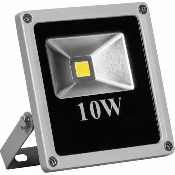 Прожектор квадратный, 1LED/10W-белый 230V 6400K серый (IP66) 135*120*45 мм, LL-271