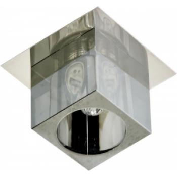 Светильник потолочный, JCD G9 с черным стеклом, хром, с лампой, CD2775