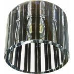 Светильник потолочный, JCD G9 с черным стеклом, хром, с лампой, CD84