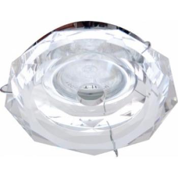 Светильник потолочный, JCDR G5.3 с прозрачным стеклом, хром, с лампой, DL222-CL