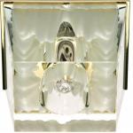 Светильник потолочный, JCD9 35W G9 прозрачный-белый , золото, JD59