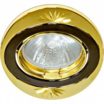 Светильник потолочный, MR16 G5.3 жемчужное золото-хром, DL250