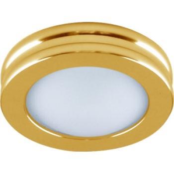 Светильник потолочный, MR16 G5.3 с матовым стеклом, золото, DL205