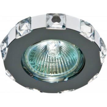 Светильник потолочный, MR16 G5.3 с прозрачным стеклом, хром, DL235
