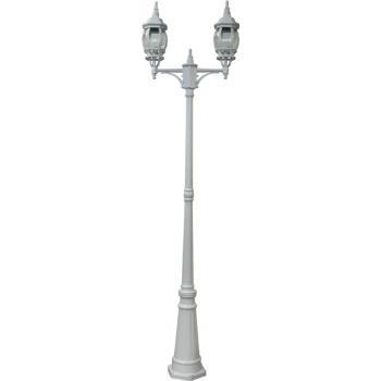 Светильник садово-парковый, 2*00W 230V E27 белый, 8114