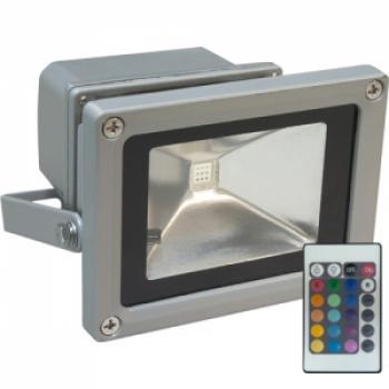 Светодиодный прожектор LL-180 квадрат 1LED*10w RGB 230V (IP44) 115*86*85мм