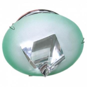 Светильник потолочный, JCDR G5.3 с белым стеклом, хром, c лампой, DL4150