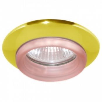 Светильник потолочный, MR16 G5.3 золото красный, 730С-W