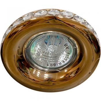 Светильник встраиваемый потолочный MR16 MAX50W 12V G5.3, прозрачный, белый, DL203-C