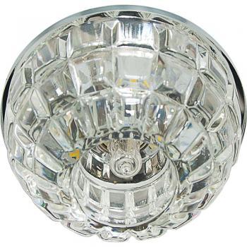 Светильник встраиваемый со светодиодной RGB подсветкой 2.5W JCD9 35 W 230V/50Hz G9, прозрачный, прозрачный, JD87