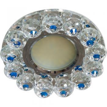 Светильник встраиваемый 15LED*2835 SMD, MR16 50W G5.3, прозрачный-голубой, прозрачный , CD7070