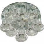 Светильник встраиваемый со светодиодной RGB подсветкой 2.5W JCD9 35 W 230V/50Hz G9, прозрачный, прозрачный, 1527