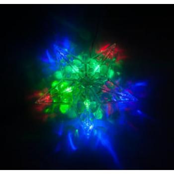 """Гирлянда """"Звезда"""", 10 LED, цвет свечения: RGB, батарейки 2*AA, IP20, CL632, артикул 26987"""