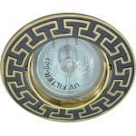 Светильник потолочный, MR16 G5.3 черный металлик-золото, DL2008