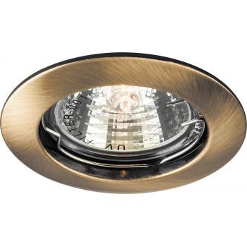Светильник потолочный, MR16 G5.3 античное золото, DL307