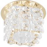 Светильник потолочный 10W 220V/50Hz 600Lm 3000K прозрачный, золото, JD58