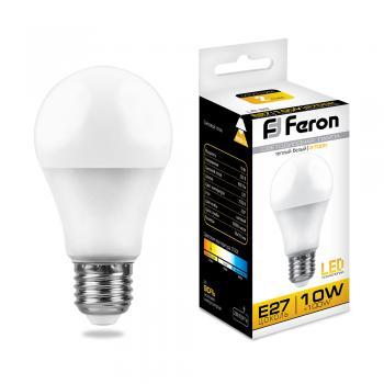 Лампа светодиодная, (10W) 230V E27 2700K, LB-92