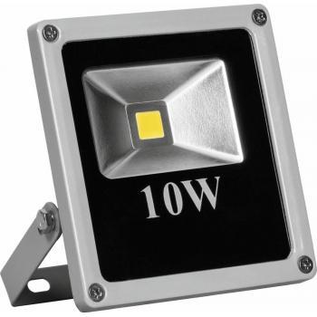 Прожектор квадратный, 1LED/10W- желтый 230V серый (IP66) 135*120*45 мм, LL-271