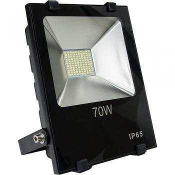 Прожектор светодиодный 2835 SMD 70W 7000LM 6400K AC220V/50Hz 235*200*67mm IP65, черный, LL-843