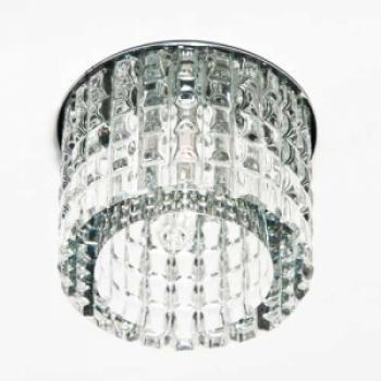 Светильник потолочный, JCD9 35W с прозрачным стеклом, хром, CD2109
