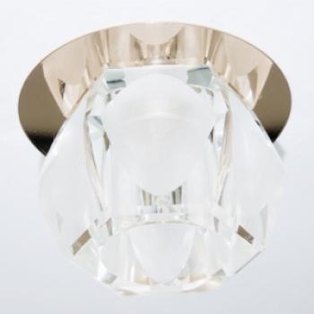 Светильник потолочный,JCD9 35W G9, прозрачный,золото, с лампой, JD109