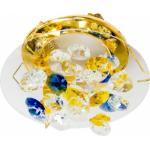 Светильник потолочный, MR16 G5.3 желтый-голубой-прозрачный, золото , CD4204